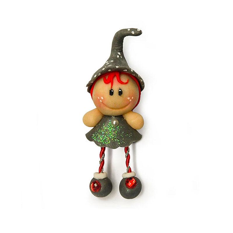 bambolina calamita con cappellino
