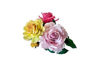 rose realizzate in porcellana fredda