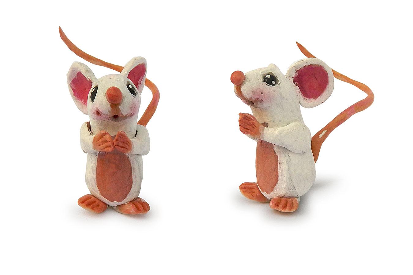 piccolo topino realizzato in porcellana fredda